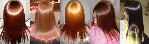 最新縮毛矯正とヘアカラー美髪矯正で髪質改善